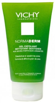 Normaderm Daily Exfoliating Cleansing Gel with Smoothing Micro-particles by Normaderm Daily Exfoliating Cleansing Gel with Smoothing Micro-particles. $16.25. Skin Type : Young women with imperfection-prone skin: blocked pores, uneven skin texture, localised shine, redness, dilated pores.  Action : Imperfection-prone skin in young women: blocked pores, uneven skin texture, localised shine, redness, dilated pores.  Result : Unblocks and purifies pores. Exfoliates and refine...