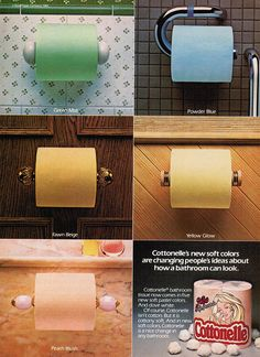 Colored Toilet Paper Ad 1982 .