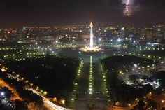 The National Monument (Indonesian: Monumen Nasional (Monas) is a 433 ft (132 metre) tower at the centre of Merdeka Square, Central Jakarta, Indonesia.