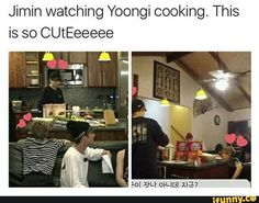 Jimin watching his hubby cook for him.