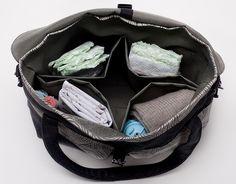 Our redesigned Hemp Demin Diaper bag with a waterproof nylon interior!  Notre sac à couche en denim de chanvre repensé avec un intérieur en nylon rigide!