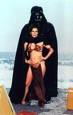 Princess Leia and Darth Vader.