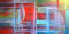 Two worlds / oil,canvas  120 x 60 cm