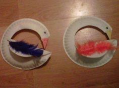 Art Mama Says: Duck, Duck Goose Swan Paper Plate Puppets - Toddler Art Project