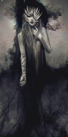 Haunting By Indiana, US based artist Jace Wallace created the beautiful fantasy illustrations in a soft style Dark Fantasy Art, Dark Art, Dark Gothic, Gothic Art, Mononoke, Art Manga, Arte Horror, Horror Art, Fantasy Illustration