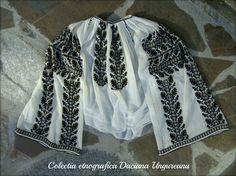 Motivul stejar & ghinda. Zona Gorj. Kimono Top, Textiles, Blouse, Tops, Women, Fashion, Moda, Fashion Styles, Blouses