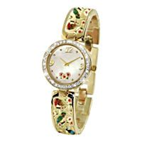 \'Tranquil Garden Treasures\' Ladies Watch