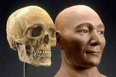reconstructed face of 9,000 yr old mummy of Spirit Cave, Nevada https://en.wikipedia.org/wiki/Spirit_Cave_mummy