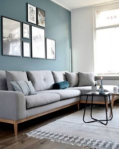 Elegant Living Room Wall Colour Ideas Matching with Furniture We've assembled a short list of several of the most effective blue color for your living room.We've assembled a short list of several of the most effective blue color for your living room. Living Room Paint, Living Room Grey, Living Room Interior, Home Living Room, Living Room Designs, Living Room Furniture, Living Room Decor, Modern Furniture, Furniture Ideas