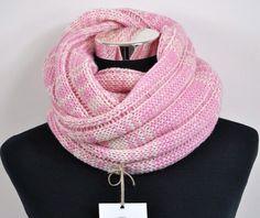 Australian merino wool cowl. Pink and almond.