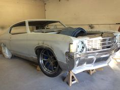 72 chevelle pro touring custom frenched bumpers chin spoiler