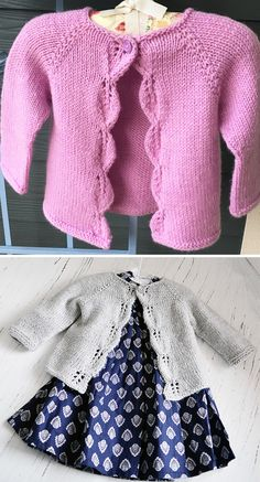 Knitting Pattern for Easy Aida Baby Cardigan - Simple leaf lace adorns the front. Knitting Pattern for Easy Aida Baby Cardigan - Simple leaf lace adorns the front borders of this baby sweater knit in on. Baby Cardigan Knitting Pattern Free, Baby Sweater Patterns, Knitted Baby Cardigan, Knit Baby Sweaters, Knitted Baby Clothes, Knit Patterns, Toddler Cardigan, Knitting For Kids, Easy Knitting