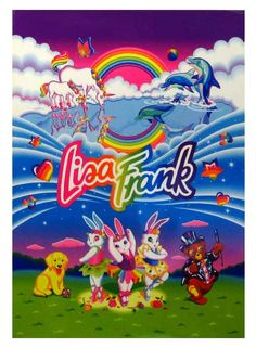 """I feel old if Lisa Frank is now """"Vintage"""" Lisa Frank Large Collage of characters by PoniesAndPets, $10.00"""