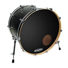 Evans EQ3 Resonant Black Bass Drum Head 22 Inch ** You can get additional details at the image link.Note:It is affiliate link to Amazon.