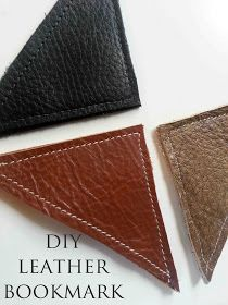 Made by Me. Shared with you.: DIY Leather Bookmark Tutorial