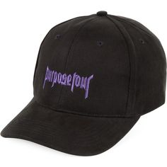 Justin Bieber Purpose Tour curved peak cap ($41) ❤ liked on Polyvore featuring men's fashion, men's accessories, men's hats and mens caps and hats