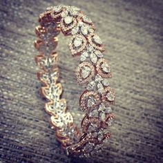 Best Diamond Bracelets : Best site to plan a modern Indian wedding WedMeGood covers real weddings genui Diamond Bracelets, Gold Bangles, Diamond Jewelry, Bangle Bracelets, Gold Jewelry, Tikka Jewelry, Gold Ring, Silver Ring, Silver Earrings