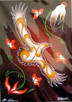 """Art Print Authentic Native American 16x20"""" """"Soaring Bird"""" Beautiful LARGE Authentic Native American Art. Much more detail in print than photo can show. Double matted and ready to frame. Just 65.50 +S&H #nativeamerican  #art"""