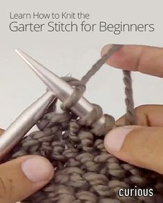 Want to learn how to knit a basic fabric pattern? This quick and easy lesson demonstrates the garter stitch and breaks it down step by step.