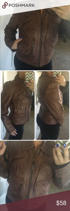 🌟🌟Gorgeous moto style leather coat New condition leather a.n.a Jackets & Coats