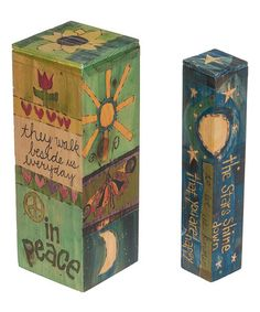 Look at this #zulilyfind! Loving Memory Painted Peace Pole Décor Set #zulilyfinds