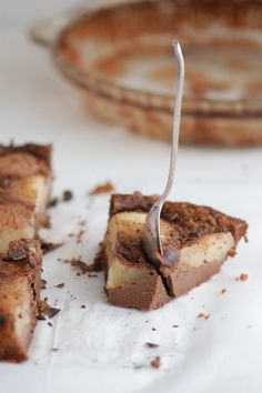 chocolate and pear clafOutis