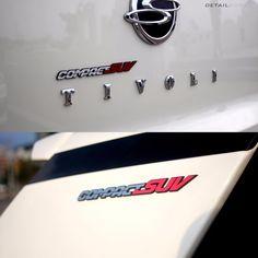 Detailkorea Car Lettering Slogans Emblem Silver+Red for Ssangyong XLV & Tivoli #DETAILKOREA #Detailkorea #Car #Car_Emblem #Emblem #Ssangyoung #TIVOLI #Compact_SUV