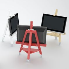 Modern Mobile TV Stand   Shelterness