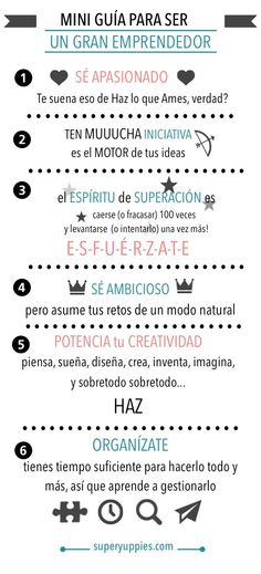 Mini Guía Del Buen Emprendedor! #Emprendedor #Motivacion Working On It, How To Get Rid Of Acne, Business Quotes, How To Start A Blog, Cool Words, Best Quotes, Motivational Quotes, Knowledge, Positivity