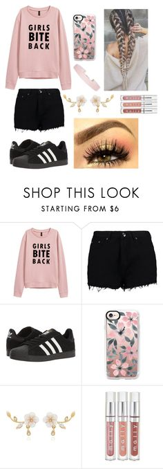 """perfict pink"" by hashtagfudgebarsfrombae on Polyvore featuring Boohoo, adidas, Casetify and Humble Chic"