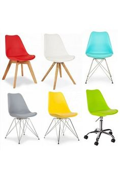 Eames Style Chair (interchangeable seats and frames/legs)