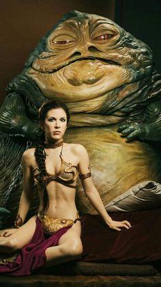 Prinzessin Leia & Jabba the Hutt (Carrie Fisher) Pulp Fiction, Film Science Fiction, Leia Star Wars, Star Wars Han Solo, Star Wars Poster, Star Wars Art, Star Trek, Battlestar Galactica, Princess Leia Costume Kids