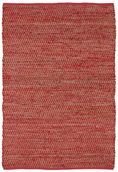Synthia Hand Woven Cotton Red/Green/Tan Area Rug