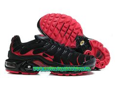 Nike Air Max Tn Requin/Tuned 2013 Chaussues Nike Basket Pour Homme Noir/Rouge