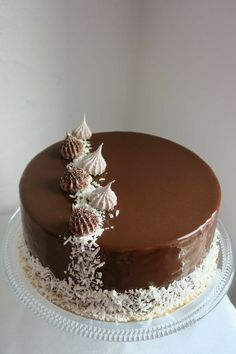 Chocolate Cake Designs, Chocolate Truffle Cake, Chocolate Cookies, Chocolate Decorations For Cake, Chocolate Chocolate, Creative Cake Decorating, Creative Cakes, Rodjendanske Torte, Cake Recipes
