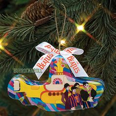 How 'bout a submarine for your tree? You wanna get this now.... a Decoupage Beatles Christmas Ornament. Your gonna love it!