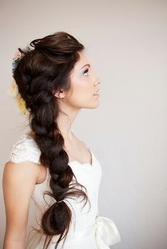 Big and poofy side French Braid