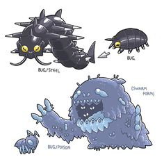 Pill Bug, Pokemon, Second Line, Creature Design, Brazil, Bugs, Insects, Creatures, Popular