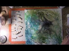 ▶ Gracefully let go of that which was not meant for you by Vivian Keh / Contadina K - spider web layout created with hot glue and string gel  #video #mixed_media  #techniques