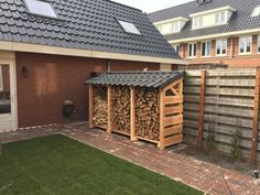 Douglas wood sheds - Garden and Fireplace - Today Pin can find Sheds and more on our website.Douglas wood sheds - Garden and Fireplace - Today Pin Outdoor Firewood Rack, Firewood Shed, Firewood Storage, Outdoor Storage, Backyard Sheds, Fire Pit Backyard, Backyard Landscaping, Garden Sheds, Douglas Wood