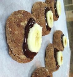 PB Coconut Cookies with Rich Chocolaty Banana Top by Talia Fuhrman