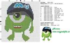 Monsters x-stitch
