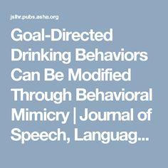 Goal-Directed Drinki