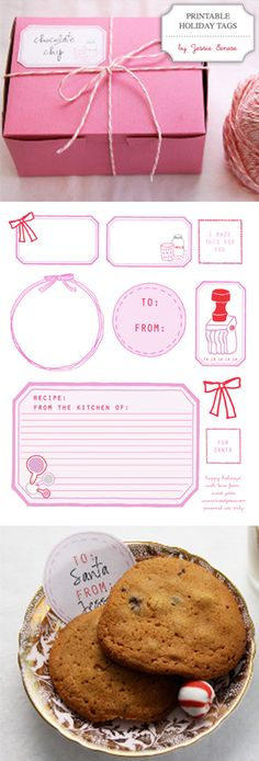 Free Printable: Holiday Tags by Sweet Jessie {via Creature Comforts} #Christmas