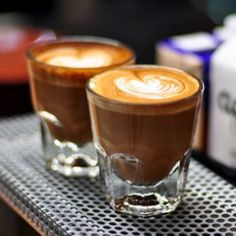 Tanna coffee now has these espresso glasses as seen in this photo. We love them.
