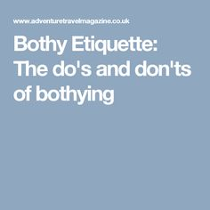 Bothy Etiquette: The do's and don'ts of bothying