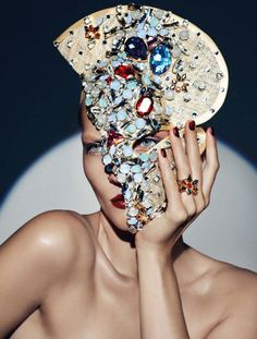 "Karolin Wolter in ""Swarovski"" by Lado Alexi for Vogue Germany, December 2012~♛"