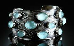 Amy Buettner. Aquamarine bracelet - sterling silver.