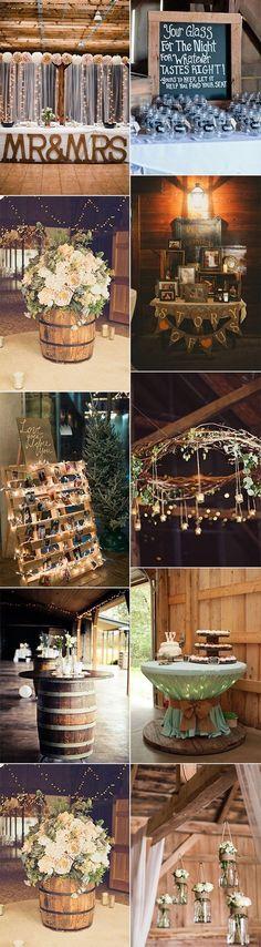 country rustic barn wedding decoration ideas for 2017 #WeddingIdeasFlowers