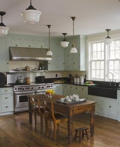 Farmhouse kitchen by young huh